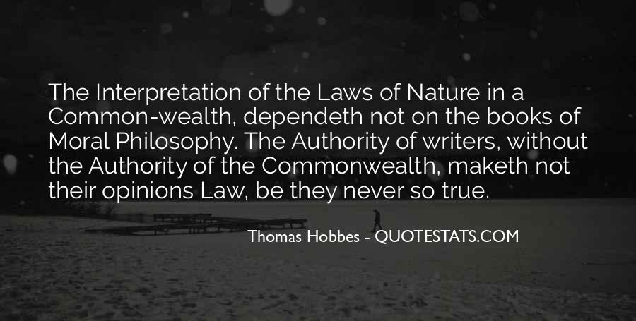 Hobbes Commonwealth Quotes #1757072