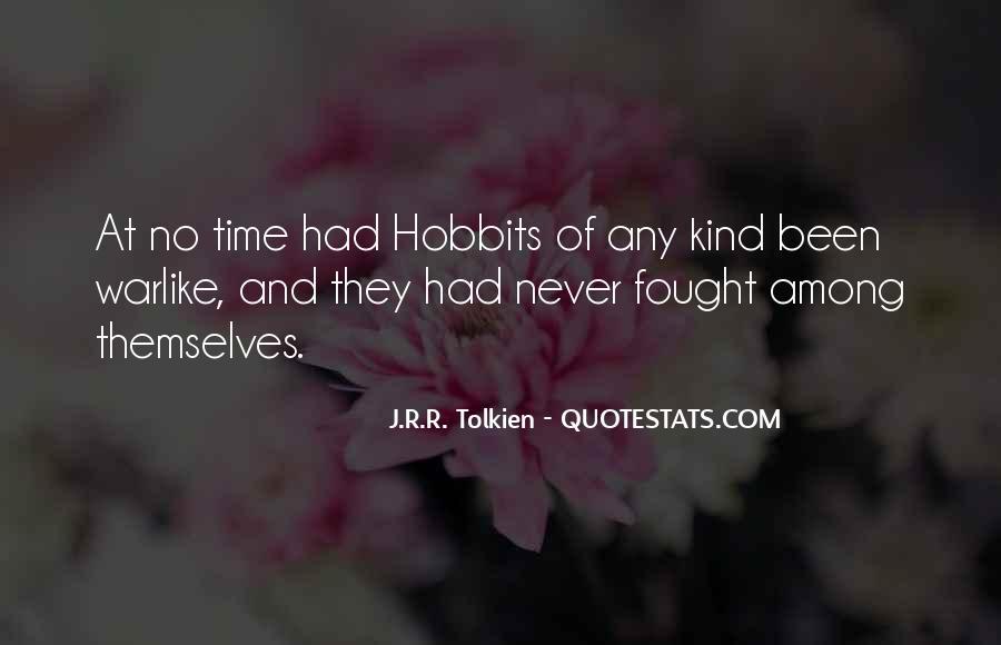 Hobbits 3 Quotes #262971
