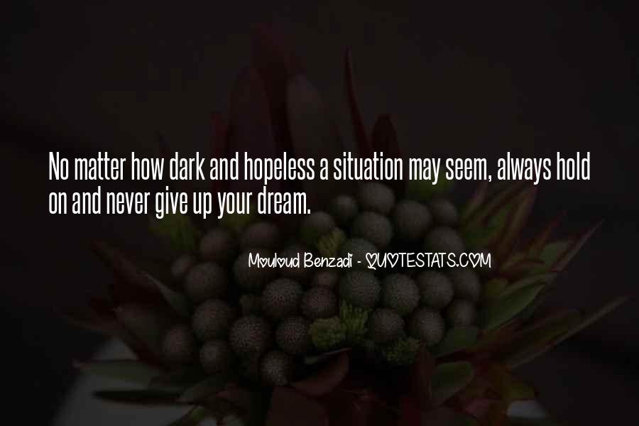 Hold On Never Give Up Quotes #1473746