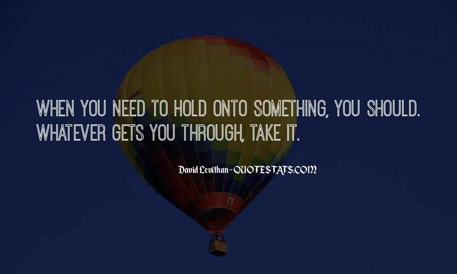 Hold On Never Give Up Quotes #82426