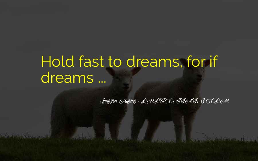 Hold Onto Dreams Quotes #490086