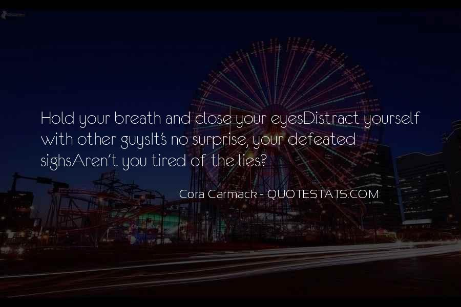 Hold Your Breath Quotes #814405
