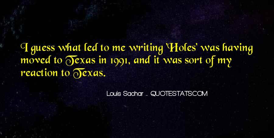 Holes Sachar Quotes #746646