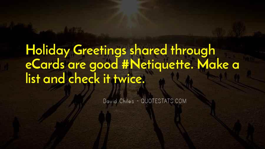Holiday Check In Quotes #294710