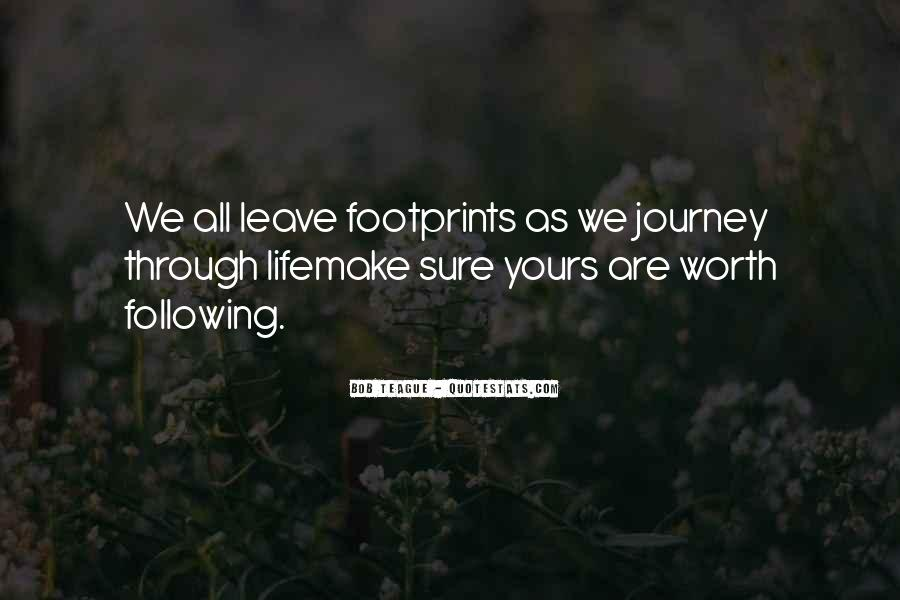 Quotes About Footprints In Life #965714