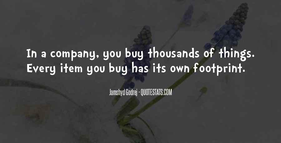Quotes About Footprint #1016042
