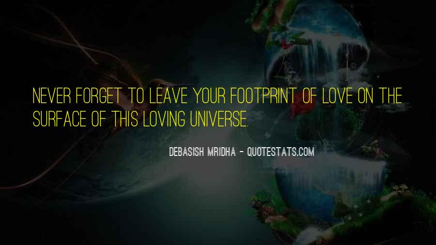 Quotes About Footprint #1059747