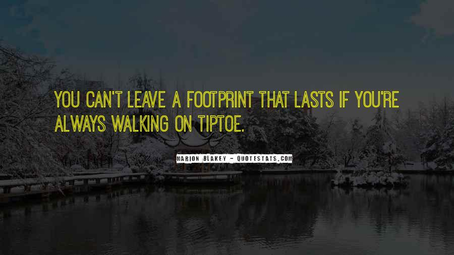 Quotes About Footprint #547161