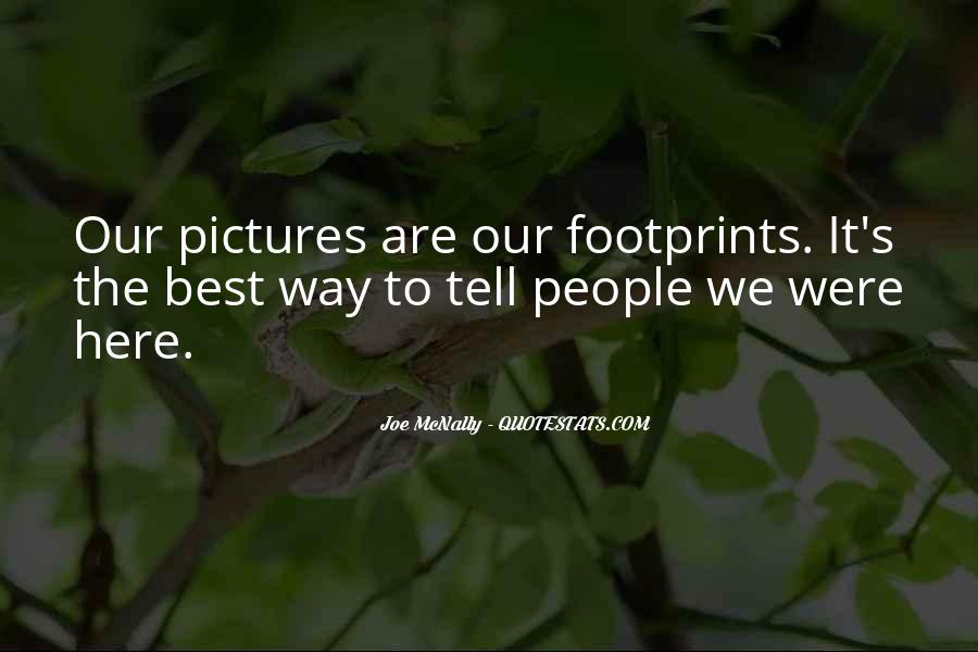 Quotes About Footprint #592222