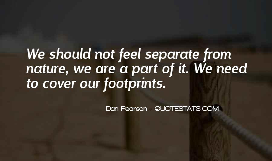 Quotes About Footprint #784756