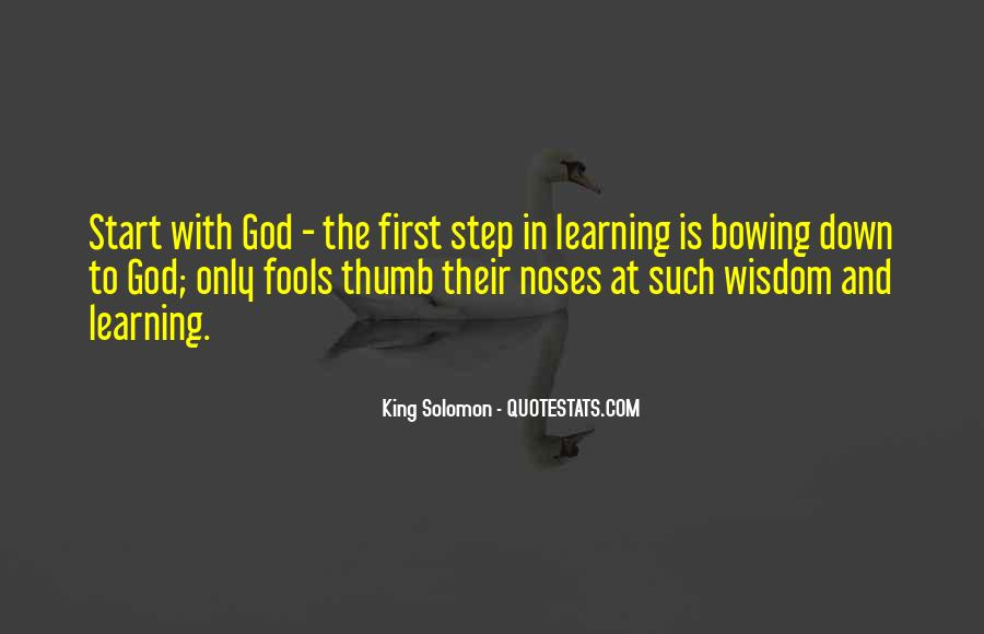 Quotes About Fools And Wisdom #22809
