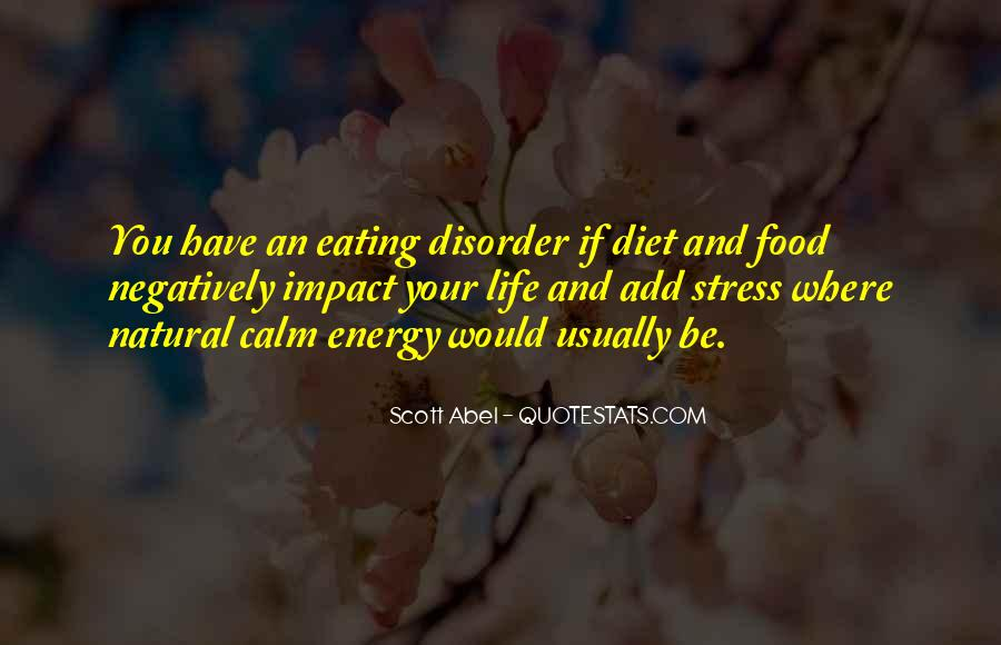 Quotes About Food Disorder #1759582