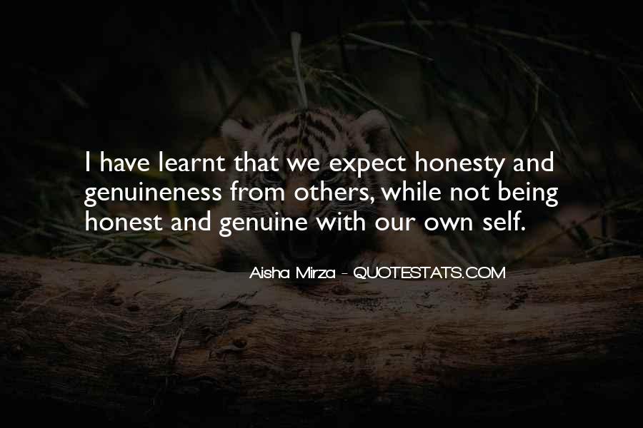 Honest And Genuine Quotes #694226