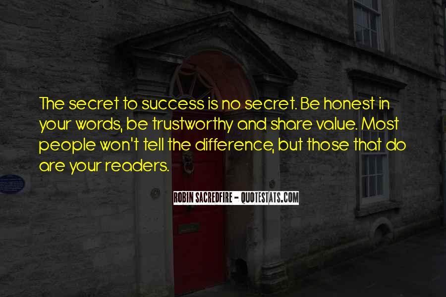 Honest And Trustworthy Quotes #1240196