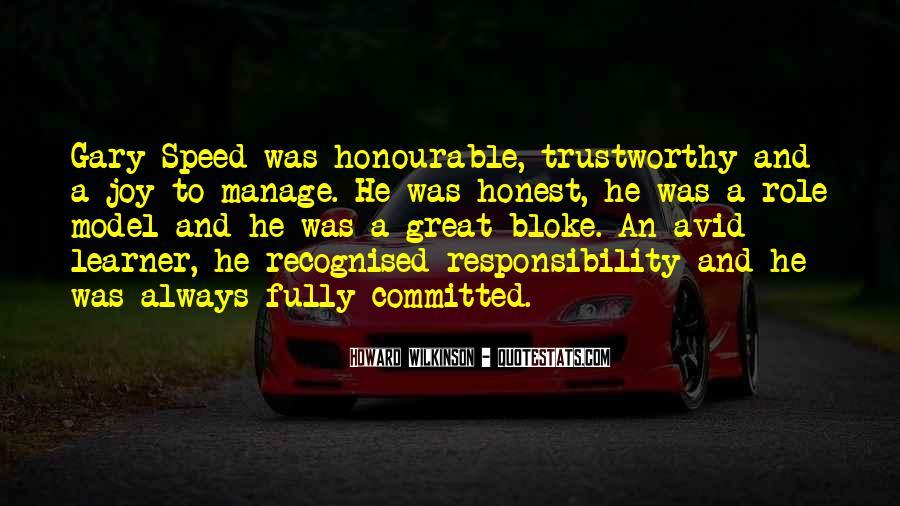 Honest And Trustworthy Quotes #1431290