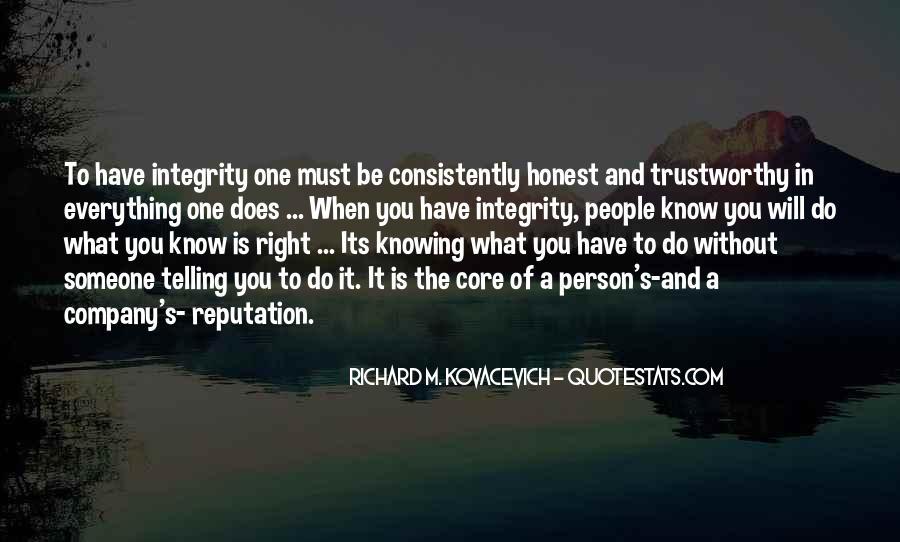 Honest And Trustworthy Quotes #780517