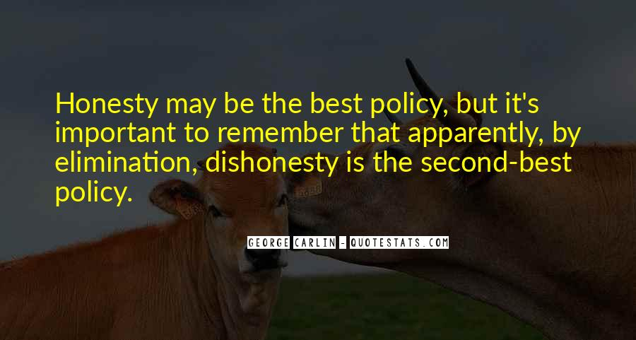 Honesty Is The Policy Quotes #231099