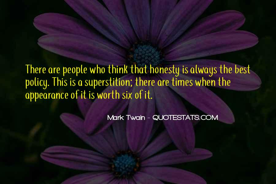 Honesty Is The Policy Quotes #990749