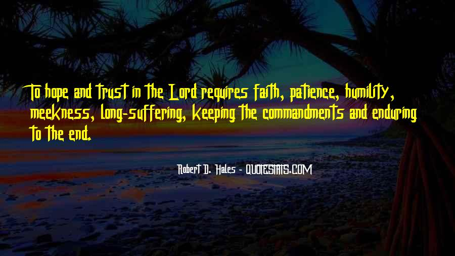 Hope And Trust In The Lord Quotes #76708
