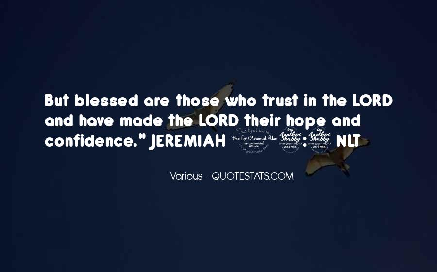 Hope And Trust In The Lord Quotes #874151