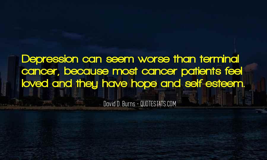 Hope For Cancer Quotes #1007257
