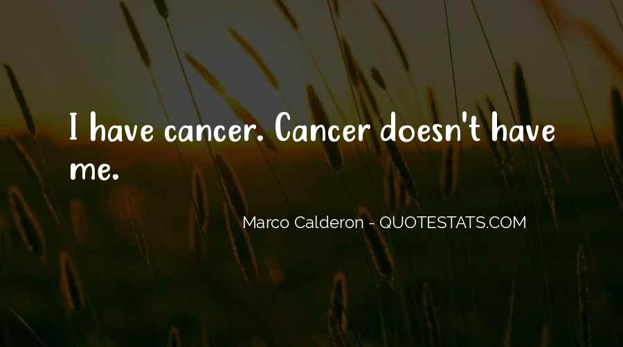 Hope For Cancer Quotes #1734774