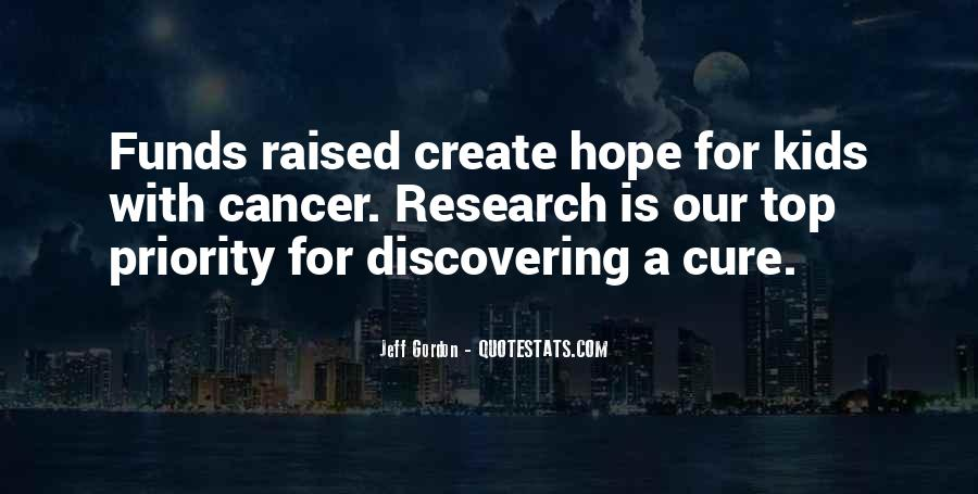 Hope For Cancer Quotes #184108