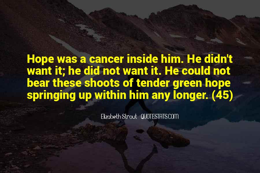 Hope For Cancer Quotes #565809