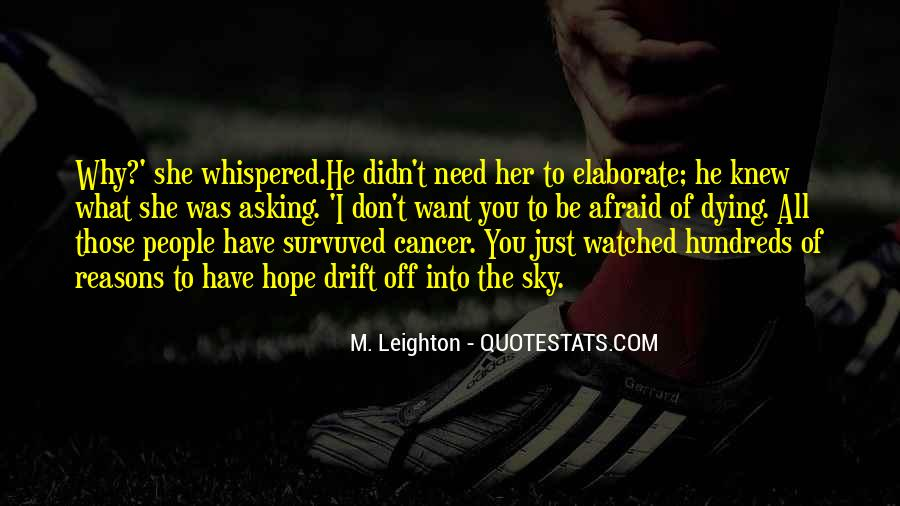 Hope For Cancer Quotes #842997