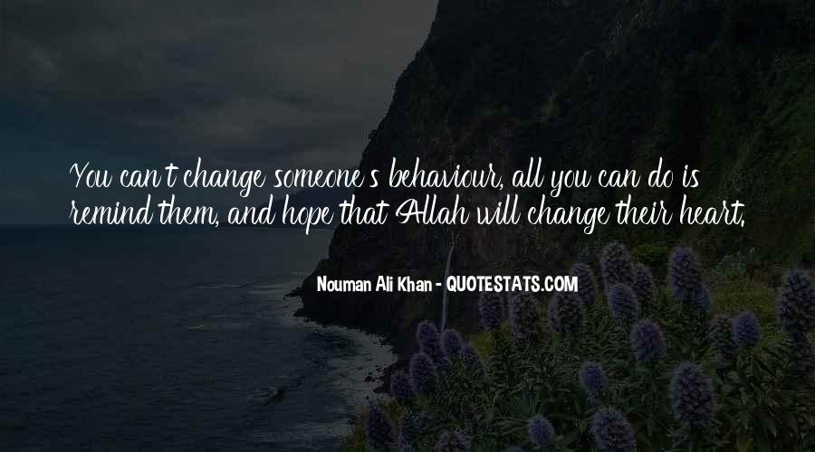 Hope You Will Change Quotes #543543