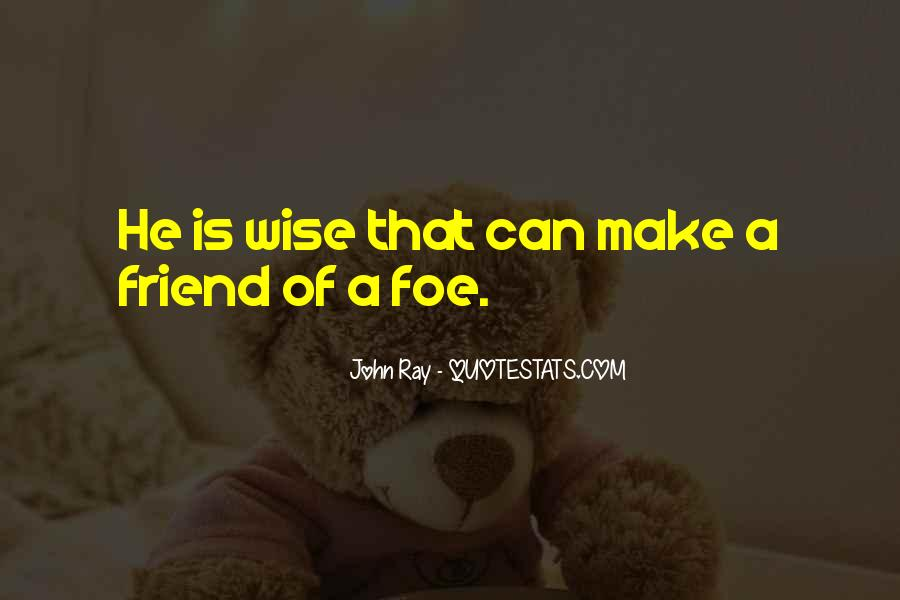 Quotes About Foe #462739