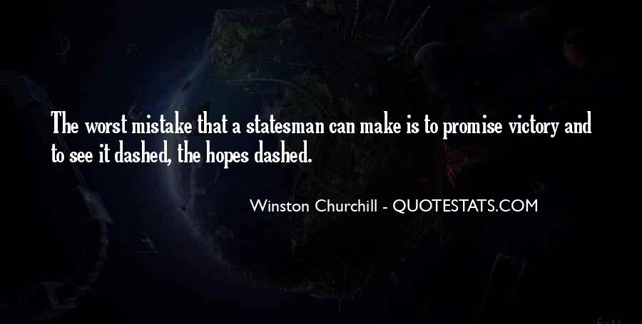 Hopes Dashed Quotes #897470