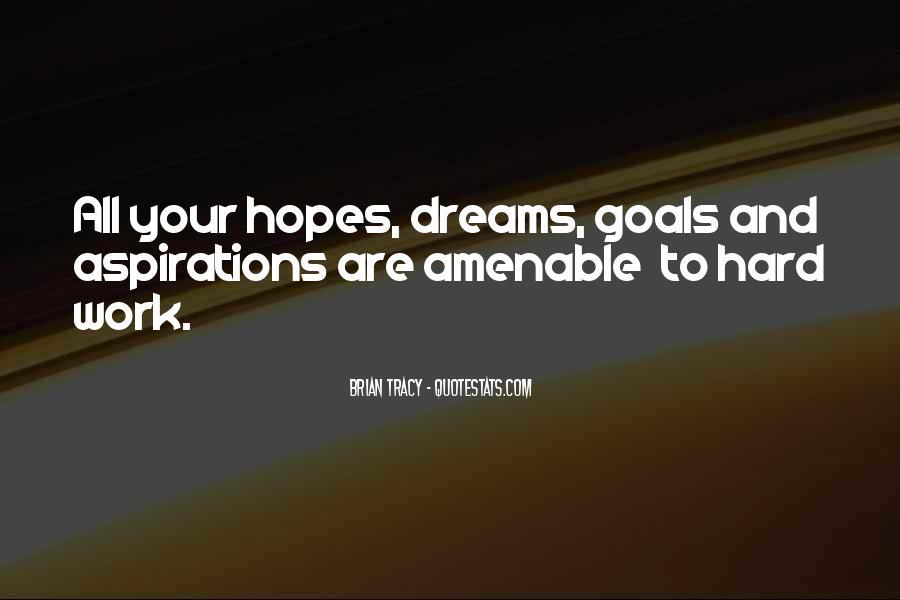 Hopes Dreams And Aspirations Quotes #313860