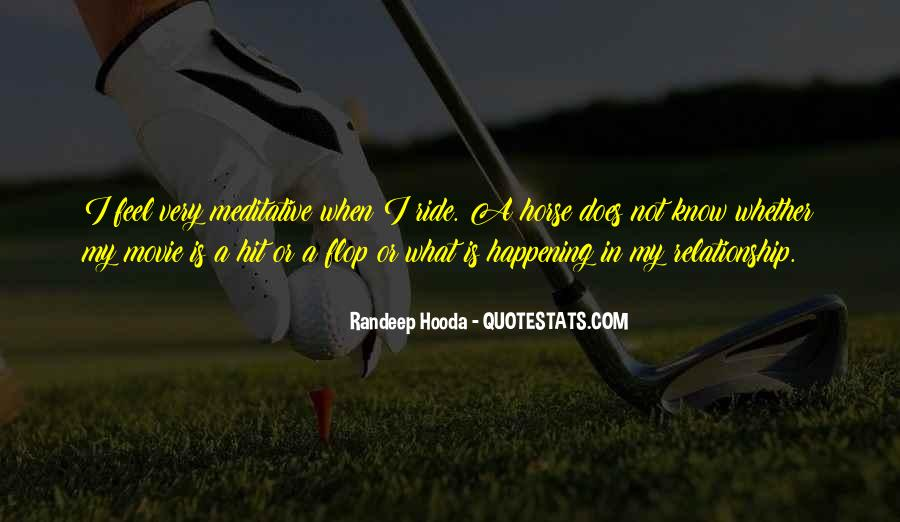 Horse Ride Quotes #486978