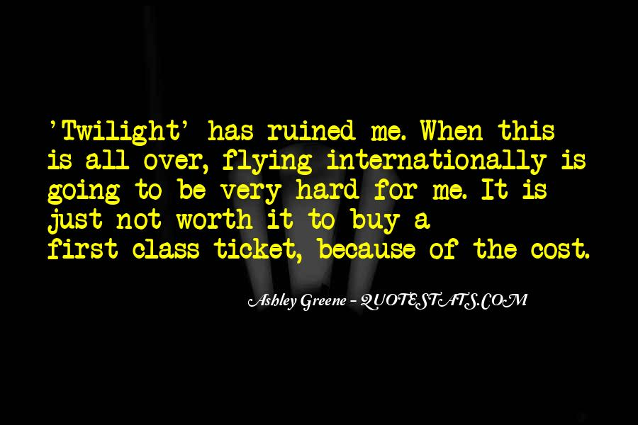 Quotes About Flying First Class #811527