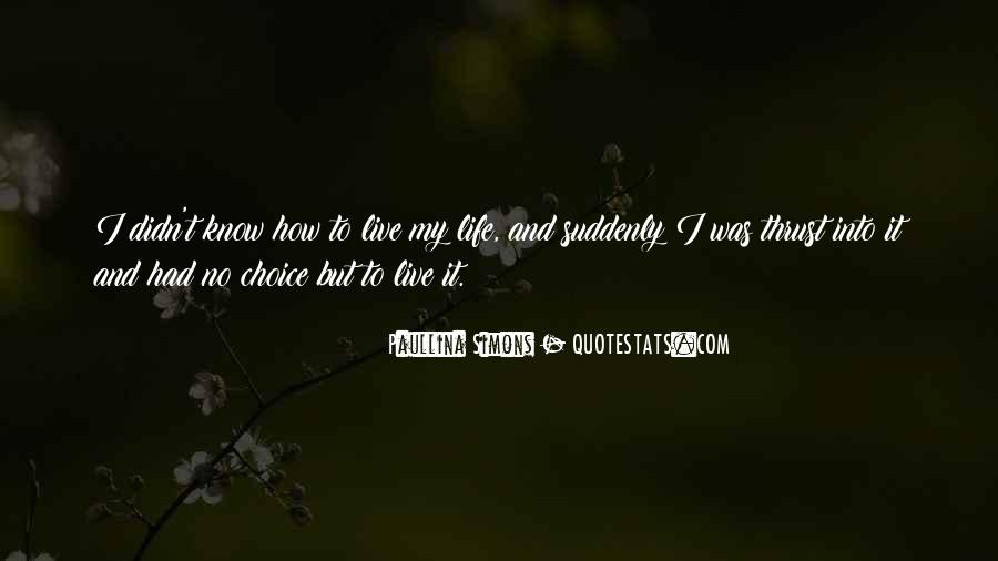 How I Live My Life Quotes #865733