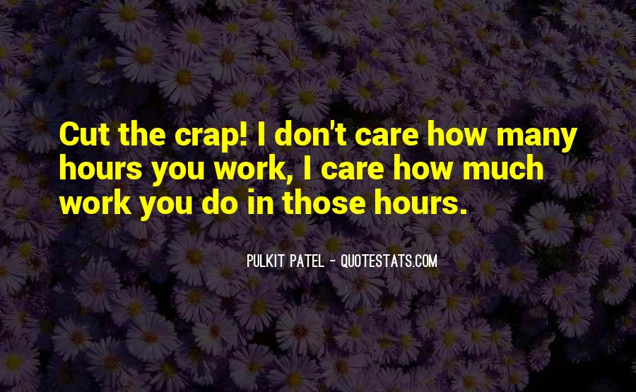 How Much You Care Quotes #1370408