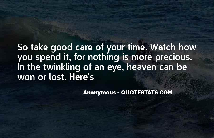 How Precious Time Is Quotes #1554853