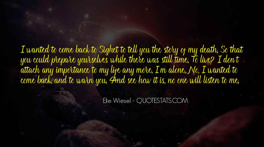 How To Live Alone Quotes #1748032