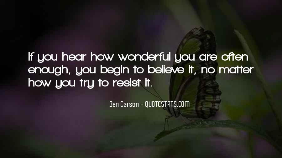 How Wonderful You Are Quotes #1598620
