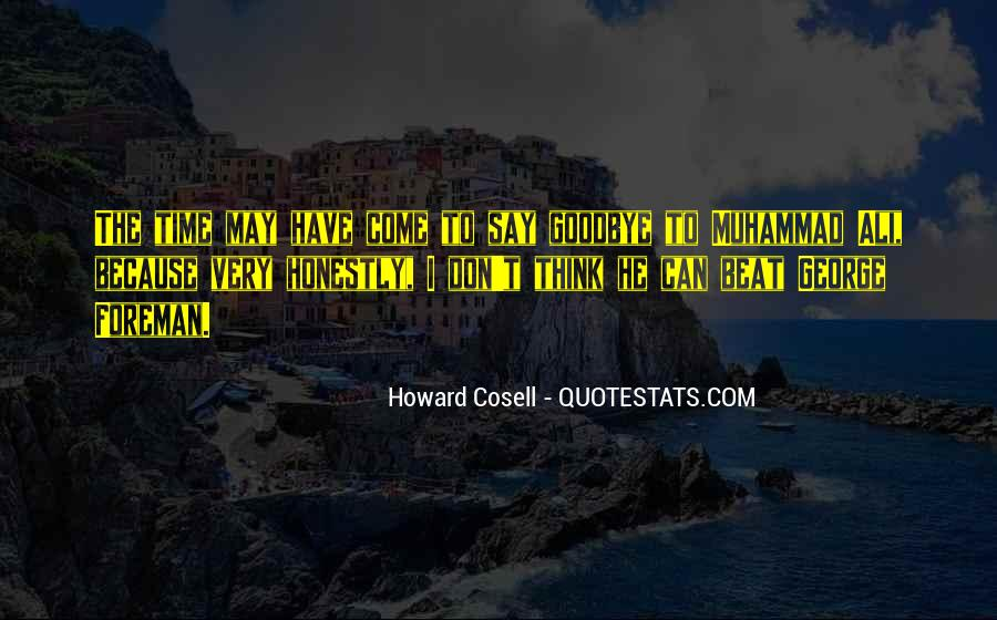 Howard Cosell Boxing Quotes #408928