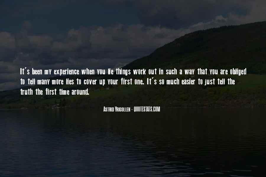 Quotes About First Time In Work #471312