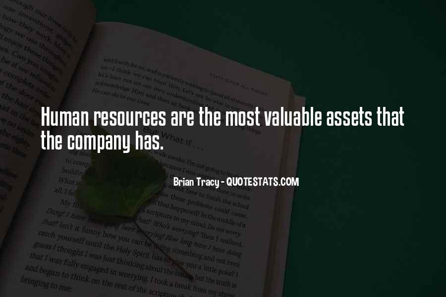 Human Assets Quotes #761430