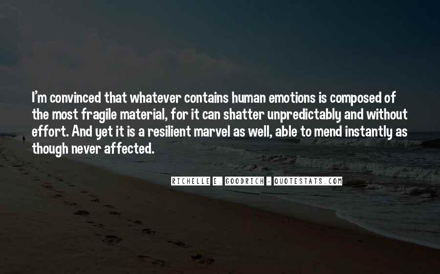 Human Feelings And Emotions Quotes #1075320
