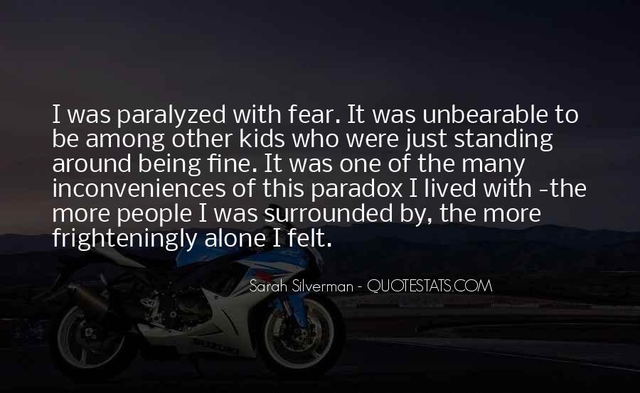 I Am Fine Alone Quotes #385731