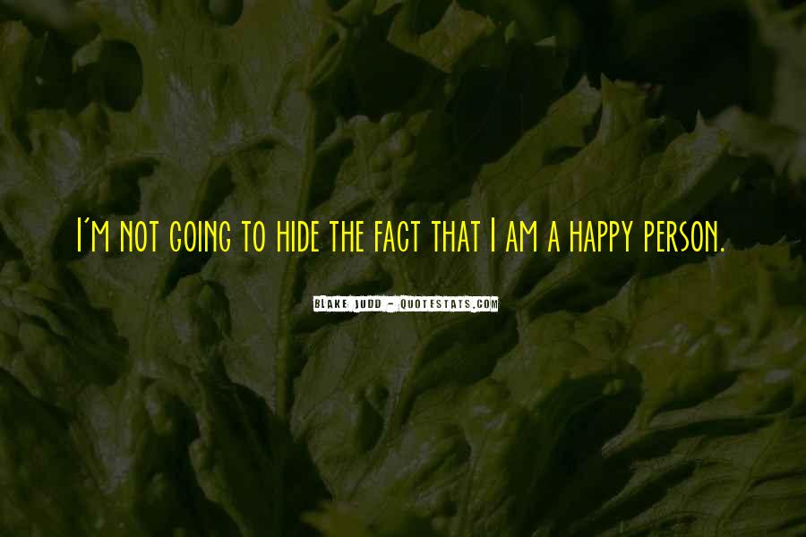 I Am Happy Person Quotes #1706367