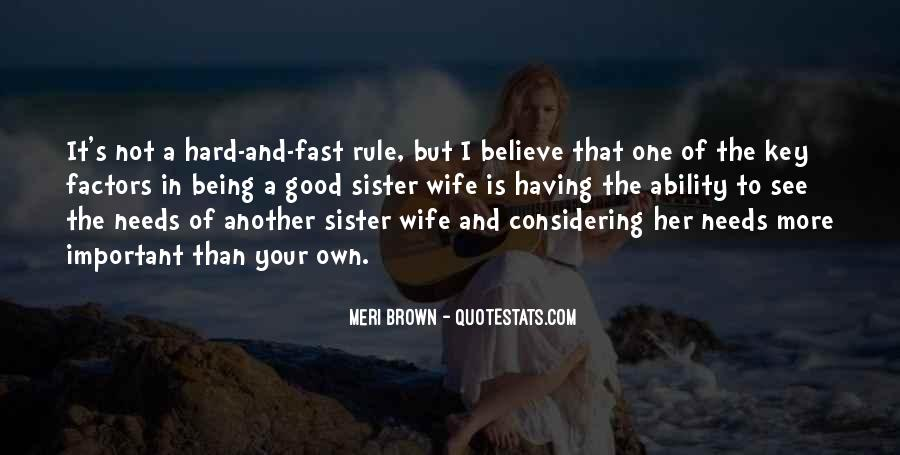 I Am His Wife Quotes #13384
