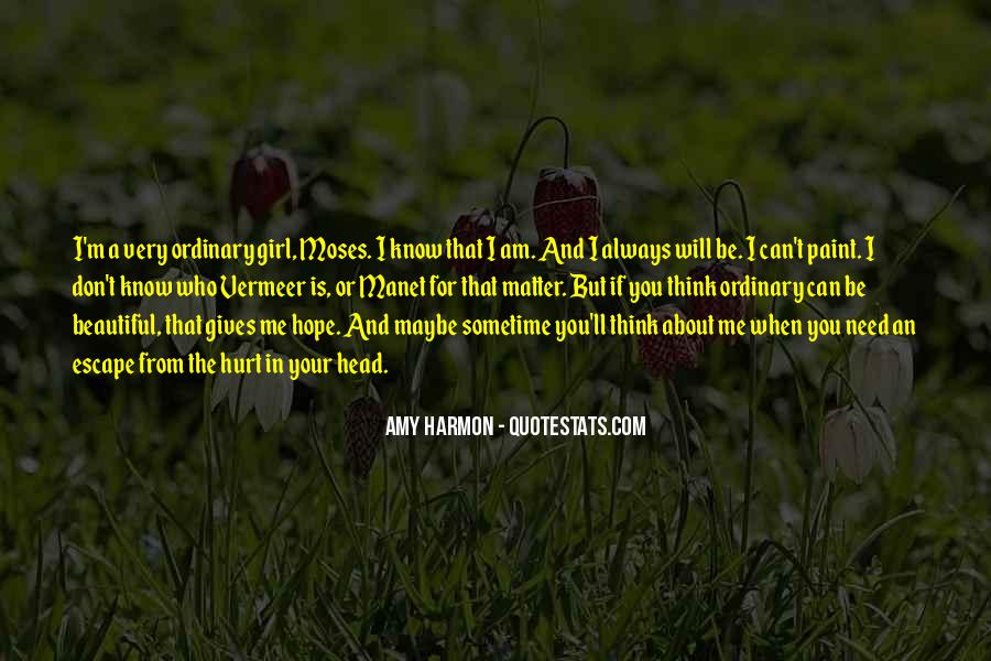 I Am Not Beautiful Girl Quotes #9674