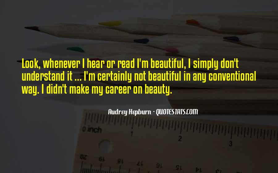 I Am Simply Beautiful Quotes #241472