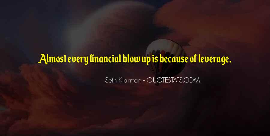 Quotes About Financial Leverage #1355853